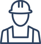 General Contractor construction icon