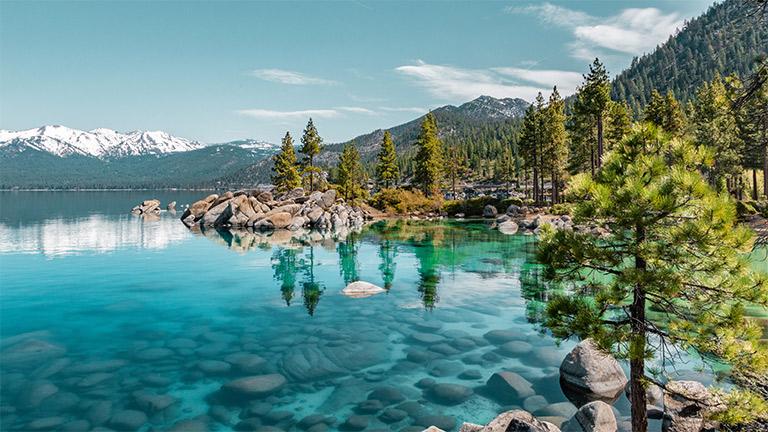 Shoreline at Lake Tahoe in Nevada